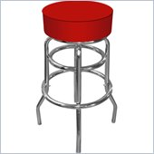Trademark Global High Grade Blue Padded Bar Stool in Red