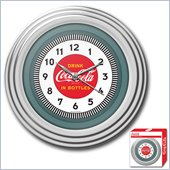 Trademark Global Coca-Cola Clock w/ Chrome Finish - 1930s Style