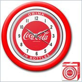 Trademark Global Coca-Cola Clock w/ White Neon - 1950s Style - 12