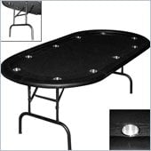 Trademark Global Texas Holdem Poker Table w/ Racetrack & Folding Legs