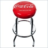 Trademark Global Coca-Cola Delicious Refreshing Vintage Chrome Stool
