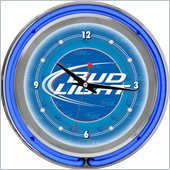 Trademark Global Bud Light 14 Inch Neon Wall Clock