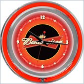 Trademark Global Budweiser 14 Inch Double Ring Neon Wall Clock