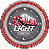 Trademark Global Coors Light 14-inch Neon Wall Clock