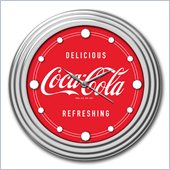 Trademark Global Coca-Cola Clock with Chrome Finish Delicious Style