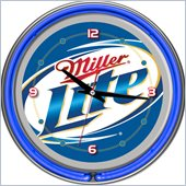 Trademark Global Miller Lite 14 Inch Neon Wall Clock