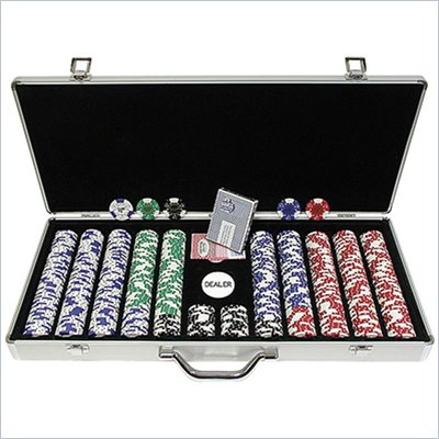 Trademark 650 Landmark Lucky Crowns 11.5g Poker Chips With Aluminum Case