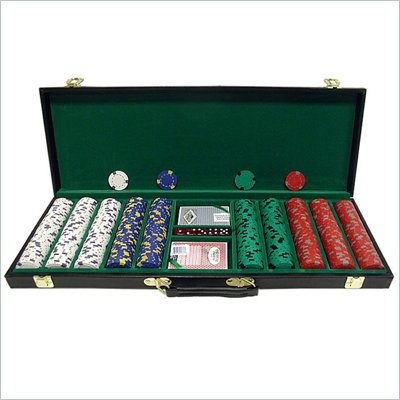 Trademark 500 13 gm Pro Clay Casino Chips w/ Deluxe Case