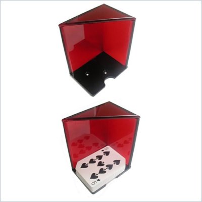 Trademark 6 Deck Discard Holder (Red) with Top
