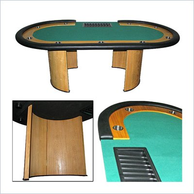 Trademark Global Pro Texas Holdem Poker Table w/ Dealer Position