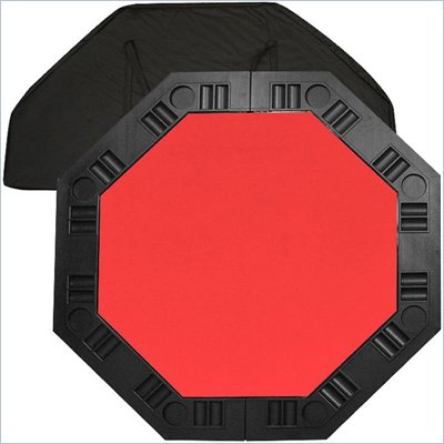 Trademark Global 8 Player 48&quot; Octagonal Table Top in Red