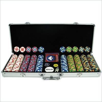 Trademark 500 PaulsonR Tophat &amp; Cane Clay Poker Chips w/Aluminum Case
