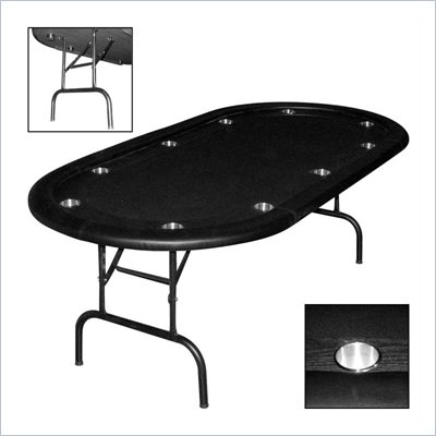 Trademark Global Texas Holdem Poker Table w/ Racetrack &amp; Folding Legs