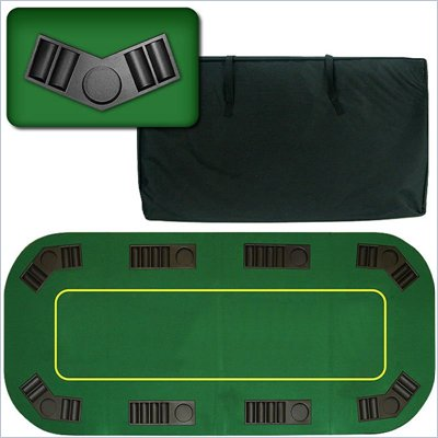 "Trademark Global 80"" Deluxe Texas Holdem Folding Poker Table Top"