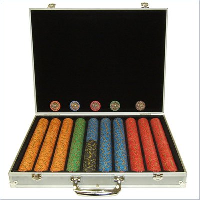 Trademark 1000 10g Nevada Jacks Poker Chips with Aluminum Case