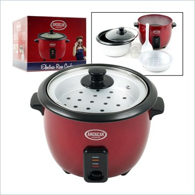 Trademark Global American Originals Electric Rice Cooker 