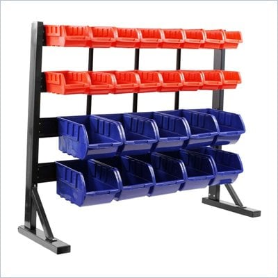Trademark Global Trademark Tools Floor Bin Rack - 26 Bins