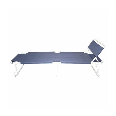 Trademark Global Fully Adjustable Folding Guest Bed with Headrest