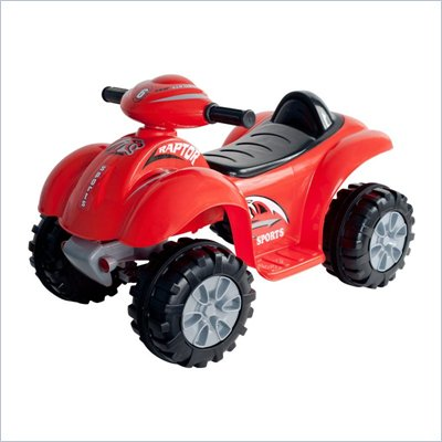 Trademark Global Battery Powered Red Raptor 4 Wheeler