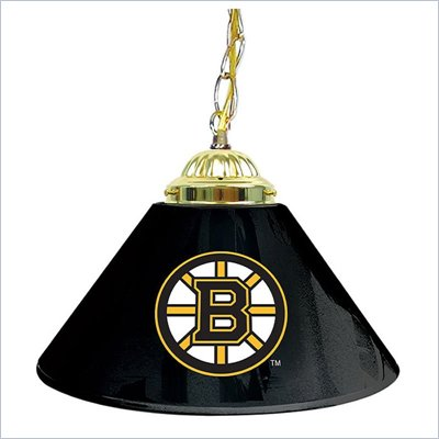 Trademark NHL Boston Bruins 14 Inch Single Shade Bar Lamp
