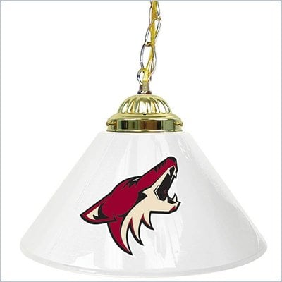 Trademark NHL Phoenix Coyotes 14 Inch Single Shade Bar Lamp