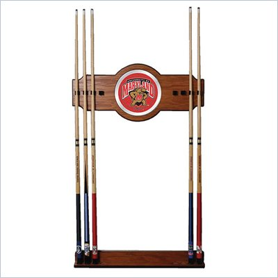 Trademark Maryland University Wood &amp; Mirror Wall Cue Rack
