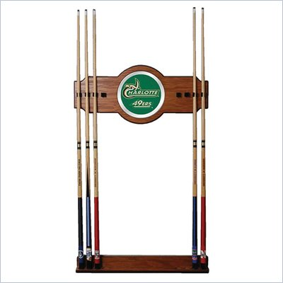 Trademark University of N.C. Charlotte Wood & Mirror Wall Cue Rack