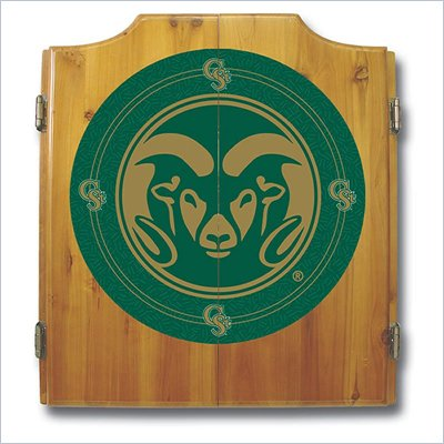 Trademark Colorado State Univ. Dart Cabinet -  Darts and Board