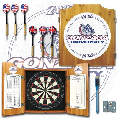 Trademark Gonzaga University Dart Cabinet - Includes Darts and Board