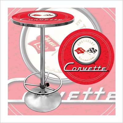 Trademark Global Corvette C1 Pub Table in Red