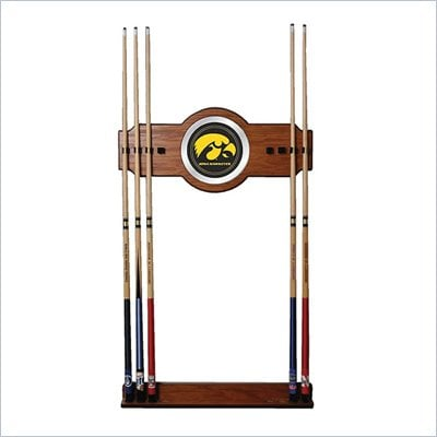 Trademark University of Iowa Wood and Mirror Wall Cue Rack