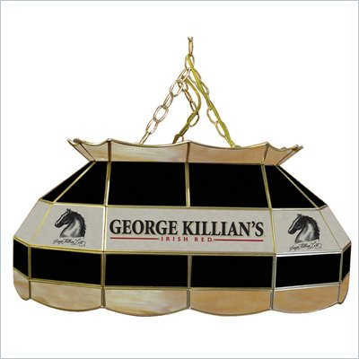 Trademark Killians 28&quot; Stained Glass Pool Table Lamp