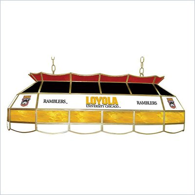 Trademark Loyola University Chicago 40&quot; Stained Glass Tiffany Light