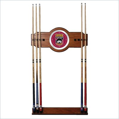 Trademark Loyola University Chicago Wood and Mirror Wall Cue Rack