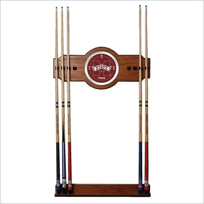 Trademark Mississippi State University Wood and Mirror Wall Cue Rack
