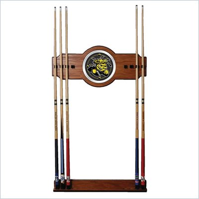 Trademark Wichita State University Wood and Mirror Wall Cue Rack