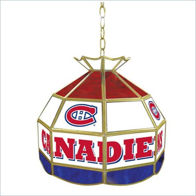 Trademark NHL Montreal Canadians Stained Glass Tiffany Lamp - 16 inch diameter