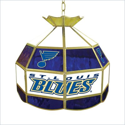 Trademark NHL St. Louis Blues Stained Glass Tiffany Lamp - 16 inch diameter
