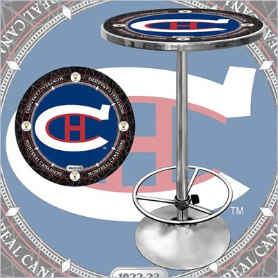 Trademark NHL Vintage Montreal Canadiens Pub Table