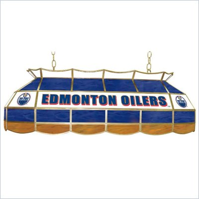 Trademark NHL Edmonton Oilers Stained Glass 40&quot;  Lighting Fixture