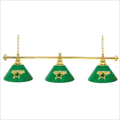 Trademark NHL Dallas Stars 60 Inch 3 Shade Billiard Lamp