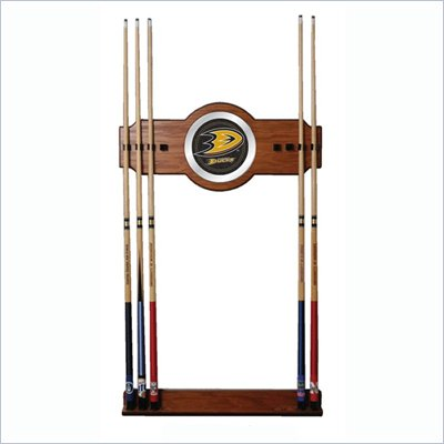 Trademark NHL Anaheim Ducks 2 piece Wood and Mirror Wall Cue Rack