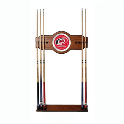 Trademark NHL Carolina Hurricanes 2 piece Wood and Mirror Wall Cue Rack