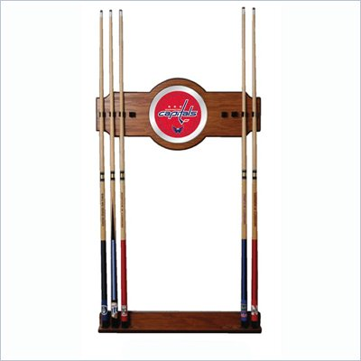 Trademark NHL Washington Capitals 2 piece Wood and Mirror Wall Cue Rack