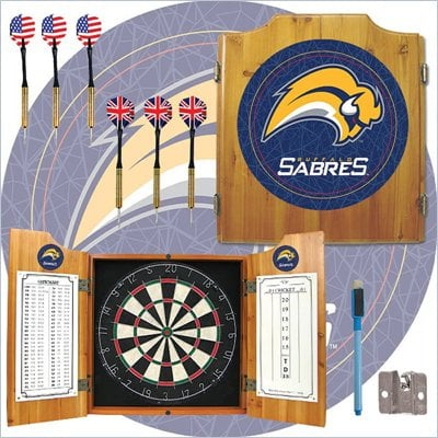 Trademark NHL Buffalo Sabers Dart Cabinet includes Darts and Board