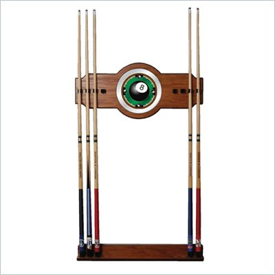 Trademark 8-Ball Rack'em 2 piece Wood and Mirror Wall Cue Rack