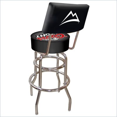 Trademark Retro Coors Light Padded Bar Stool with Back