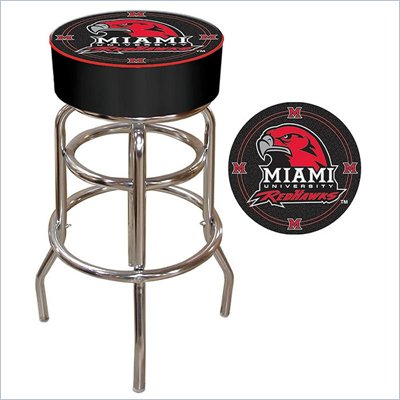 Trademark Retro Miami University, Ohio Padded Bar Stool
