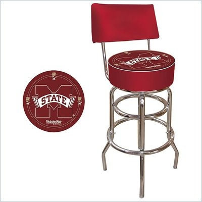 Trademark Retro Mississippi State University Padded Bar Stool with Back