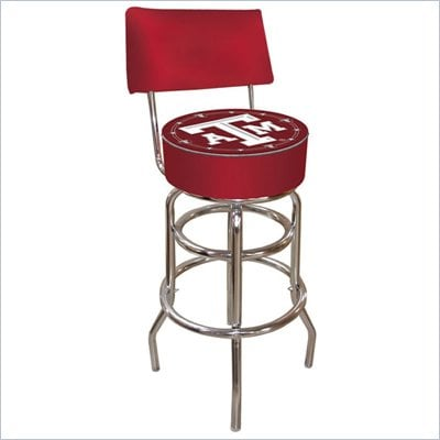 Trademark Retro Texas A&M University Padded Bar Stool with Back